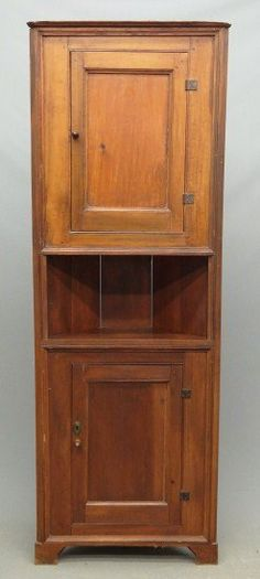 Early diminutive corner cupboard (back replaced, probably a built in), provenance E. Corner Cabinets, Corner Cupboard, Cupboards, Country Furniture, Wooden Furniture, September 16, Early American, Furniture Inspiration, Diy Projects To Try