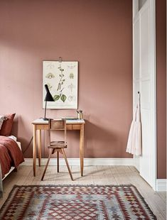 26 dusty pink bedroom walls you will love it 3 Dusty Pink Bedroom, Pink Bedroom Walls, Bedroom Wall Colors, Pink Bedrooms, Bedroom Color Schemes, Pink Walls, Home Bedroom, Bedroom Decor, Bedroom Ideas