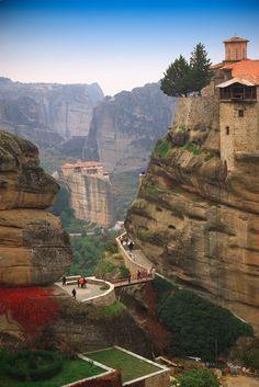 """bornthiisway: """" Mountain Monastery, Meteora, Greece """""""