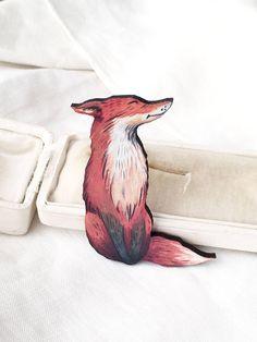 Fox brooch fox jewelrycute woodland jewelrycute animal