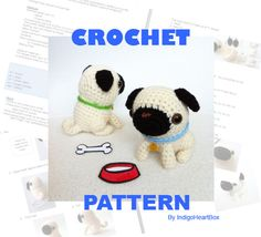 Pug Crochet Pattern. $5.00, via Etsy.