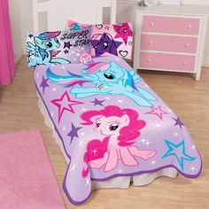 """My Little Pony Sparkle and Fly 62"""" x 90"""" Plush Blanket"""