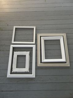 Vintage White Picture Frames Wedding Decor Photos French Country Farmhouse Pottery Barn Style Cottage Chic Shabby Set of 5. $44.00, via Etsy.