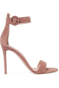 Gianvito Rossi   Suede sandals   NET-A-PORTER.COM