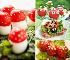idées repas santé amusant pour anniversaire d'enfant avec tomates