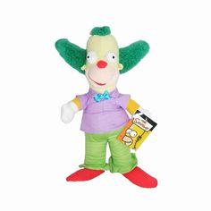 Peluche Krusty le Clown des Simpsons. Peluche originale de la série animée.   http://www.lamaisontendance.fr/catalogue/peluche-simpsons-krusty-clown/  #peluche #simpsons #simpson #clown #krusty