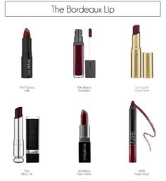 bordeaux lip options from made by girl