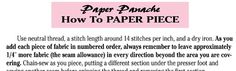 How To Paper Piece || Paper Panache