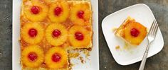 Bake a classic dessert, healthified style! Rich and caramely pineapple teams up with yellow cake mix for a great retro dessert.