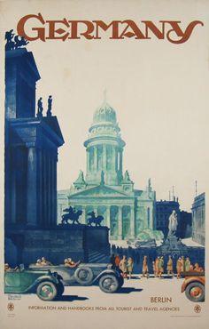 Germany Berlin  Item #: TRV-2518  Category: Travel  Artist: Dzubas  Circa: 1952  Origin: Germany  Dim: 25 1/4 x 39 1/2 in.