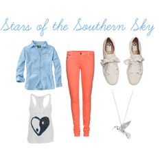 Stars of the Southern Sky, created by clareary on Polyvore
