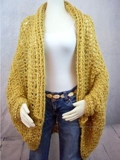 Over Sized Shrug Crochet Pattern Easy Crochet Pattern Crochet