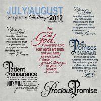July/August 2012 Scripture Challenge Wordart/Elements by Glenda Ketcham @DigitalsStore great promises