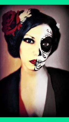 Candy skull Halloween makeup