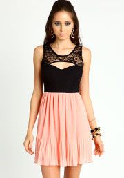 Love Culture - Pleated Lace Dress