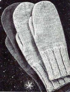 Simple mitten pattern. Free knitting pattern. Pattern category: Mittens and Gloves. Worsted weight yarn. 150-300 yards. Features: Seamless. Easy difficulty level.