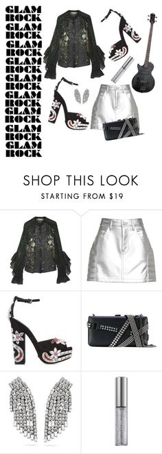 """""""Glam rock"""" by changethisonce ❤ liked on Polyvore featuring Preen, Junya Watanabe, Dsquared2, Yves Saint Laurent and Urban Decay"""