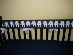 A personal favorite from my Etsy shop https://www.etsy.com/listing/230476794/teething-crib-rail-cover-in-navy