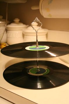 A Law Student's Journey: Vinyl Record Tiered Tray- 5 Different Ways