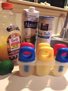 Homemade Electrolyte Drinks for illness or sports.