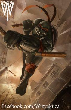 Michelangelo (Mikey) - Teenage Mutant Ninja Turtles - 11 x 17 Digital Print Ninga Turtles, Ninja Turtles Art, Teenage Mutant Ninja Turtles, Miguel Angel, Tmnt Mikey, Turtles Forever, Mundo Dos Games, Arte Dc Comics, Cultura Pop