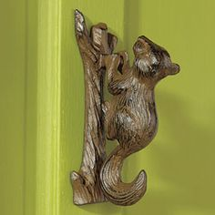 Squirrel Door Knocker - @Melba Ellis Ellis \  ... & Heart door knocker. Blacksmith hand forged. by ForeverForged £50.00 ...