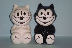'91 Felix the Cat Salt and Pepper Shakers