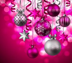 Pink Christmas Ornaments Backgroundpretty In Pink Ornaments Other ...