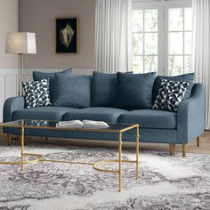 Adelina 3 Seater Sofa Bed Fjørde & Co Upholstery: Blue Sofa Bed Design, Living Room Sofa Design, Living Room Designs, 4 Seater Sofa Bed, Sofa Chair, Minimalist Sofa, Contemporary Sofa, Modern Sofa, Comfortable Sofa