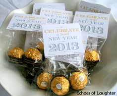 Use these for January Staff Appreciation Treat...