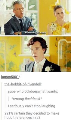 Hobbit references in Sherlock