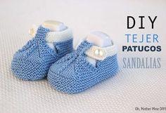 DIY patucos para bebé con patrón