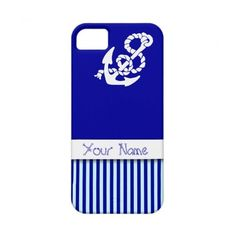 Nautical pattern and anchor customize iPhone cover iPhone 5 Covers ($44) ❤ liked on Polyvore