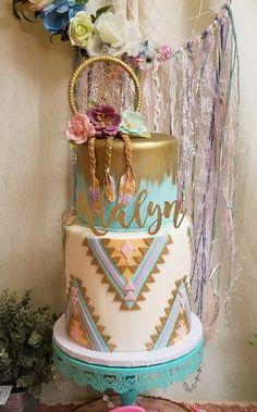 Young, Wild and Three Theme Birthday Cake Third Birthday Girl, 1st Birthday Party For Girls, Girl Birthday Themes, First Birthday Cakes, 11th Birthday, Birthday Ideas, Boho Cake, Party Ideas, Birthdays