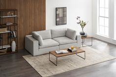The relaxed modern lines of the Noah sofa immediately infuse your living space with a fresh, chic and inviting aesthetic. Living Room Sectional, Home Living Room, Sectional Sofa, Living Spaces, 2 Seater Sofa, Modular Sofa, Dining Room Furniture, Sofa Design, Interior Design Living Room