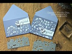 Die Cut Envelopes + Detailed Floral Thinlits Dies By Stampin Up Card Making Tips, Card Making Tutorials, Card Making Techniques, Envelope Art, Envelope Punch Board, Stampin Up, Handmade Envelopes, Making Envelopes, Deco Table Noel