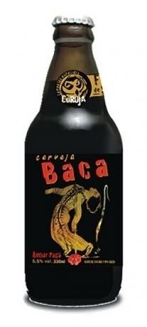 Cerveja Coruja Baca, estilo Fruit Beer, produzida por Coruja, Brasil. 5.7% ABV de álcool.