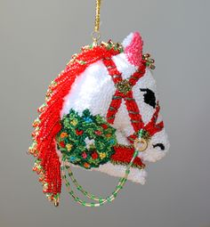 The Wreath Christmas Horse is available on Etsy at Safe Harbor Boutique.