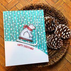 Sunny Studio Stamps: Playful Polar Bears Customer Card by Oh My Heart Christmas Cards 2018, Christmas Themes, Christmas Holidays, Sunnies Studios, Oh My Heart, Poinsettia, Warm And Cozy, Stampin Up, Polar Bears