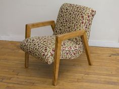 Russell Wright  Lounge Chair, upholstered in George Nelson fabric (Maharam, now sadly discontinued).