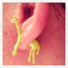 Coolest earrings ever!!! 3D giraffes!!