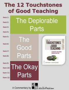Have you seen the list of 12 Touchstones of Good Teaching? Looks like there're some problems with it! ~Bon