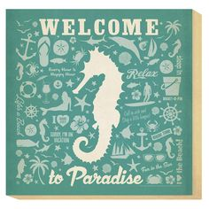 Small Seahorse Canvas Art-make something like this for the bathroom?