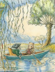 Does it get much better than the beautiful watercolours that filled the story books of my childhood ... I think not!!! Wind in the Willows - Ratty Lifestyle!