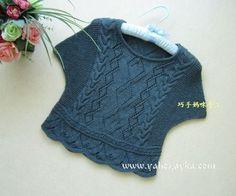 Милая кофточка спицами от китайских дизайнеров. Кофточка для лета спицами со схемами