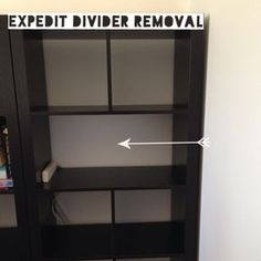 Expedit Divider Removal – Ikea Hack – Thriftea