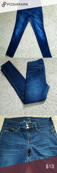 ??NY&C curve Creator Jeggings?? Jeggings front NY& Co. These are a dark blue with a medium wash. These do show a little wear in the inside hip are. Nothing noticeable when wearing theses unless your looking really close. No stains, marks, or pullings.   Please feel free to ask any questions. New York & Company Jeans Skinny