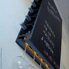 Um cantinho muito charmoso para os seus vinhos! #decor #decoracao #home #taca #vinho #wine #garrafa
