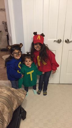 my diy halloween costumes for my girls alvin and the chipmunks including my fat little theodore lol - Halloween Costume For Fat People