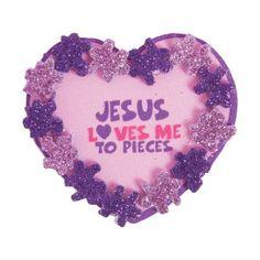 Jesus loves me Sunday school Valentines day crafts